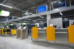 Flygplatsavvikelseportar Royaltyfri Bild