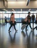 Flygplatsavvikelsevardagsrum i Wien Royaltyfri Foto