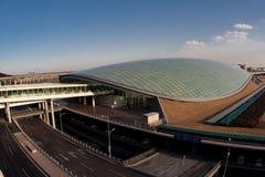 flygplatsbeijing international Arkivfoto