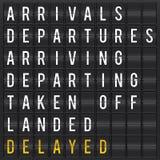 flygplatsbrädeavvikelse royaltyfri illustrationer
