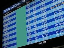 flygplatsbrädeavvikelse Arkivfoto