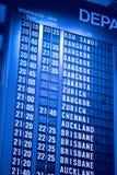 flygplatsbrädeavvikelse royaltyfri fotografi