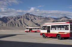 Flygplatsbuss Fotografering för Bildbyråer