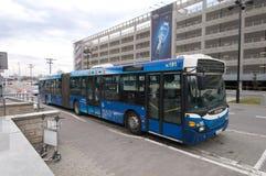 flygplatsbussservice Fotografering för Bildbyråer