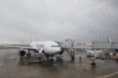 flygplatsdåligt väder Royaltyfri Fotografi