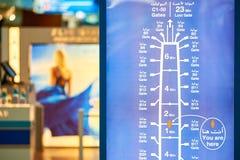 flygplatsdubai international Arkivfoton