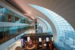 flygplatsdubai international Royaltyfri Bild