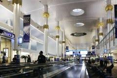flygplatsdubai international Arkivbilder