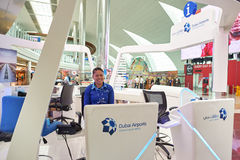 flygplatsdubai international Royaltyfri Fotografi