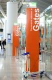 flygplatsen gates terminal warsaw Royaltyfri Fotografi