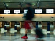 Flygplatsen rusar Arkivbild