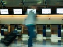 Flygplatsen rusar Fotografering för Bildbyråer