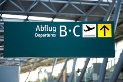 Flygplatsen undertecknar Royaltyfria Foton