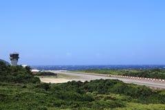 Flygplatser på den gröna ön, Taiwan Arkivfoton