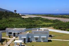 Flygplatser på den gröna ön, Taiwan Royaltyfri Fotografi