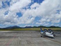 Flygplatsförkläde av den nya Ishigaki flygplatsen, Okinawa Japan Arkivfoton