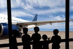 flygplatsfolk Arkivbilder