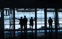 flygplatsfolk arkivfoto