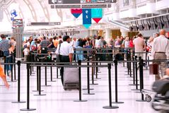 flygplatsfolkmassa Royaltyfria Foton
