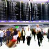 flygplatsfolkmassa Royaltyfria Bilder