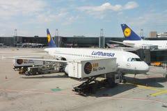 Flygplatsfrankfurterkorv Arkivbilder