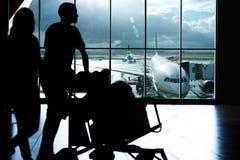 flygplatshandelsresande Royaltyfri Fotografi