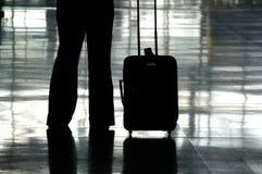 flygplatshandelsresande Arkivbilder
