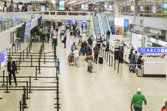 Flygplatsinre i Genève Royaltyfri Fotografi