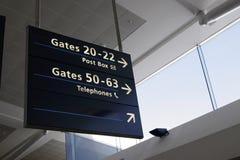 flygplatsinterior Royaltyfri Foto