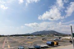 flygplatsinternational malaga Fotografering för Bildbyråer