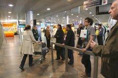 flygplatsinternational sheremetyevo Royaltyfria Bilder
