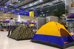 flygplatsinternationalsuvarnabhumi Royaltyfri Bild