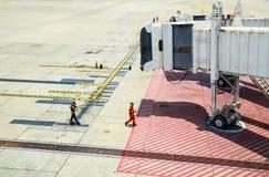 Flygplatsjordarbetare Royaltyfria Foton