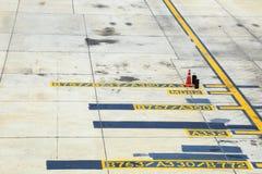 Flygplatsjordtaxiväg Arkivbild