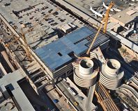 flygplatskonstruktion Royaltyfri Bild