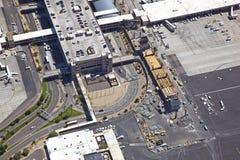 Flygplatskonstruktion Arkivbild