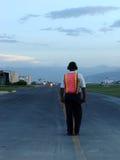 flygplatskontrollant Arkivfoto