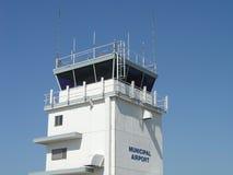 flygplatskontrolltorn royaltyfri fotografi