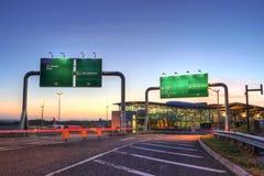 flygplatskorknsunset Royaltyfri Foto