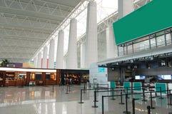 flygplatskorridor Fotografering för Bildbyråer