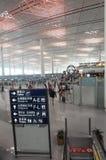 flygplatskorridor Arkivfoton