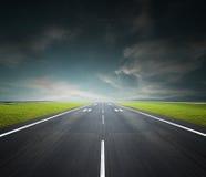 flygplatslandningsbana Arkivbilder