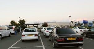 Flygplatsparkeringsplats lager videofilmer