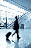 flygplatspassagerare shanghai Royaltyfria Foton