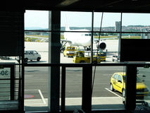 flygplatsplats arkivfoto