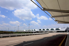 flygplatsporslin guangzhou Arkivfoto