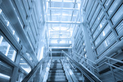 Flygplatsrulltrappa Fotografering för Bildbyråer