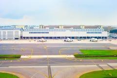 Flygplatssikt från över Arkivbilder