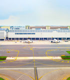 Flygplatssikt från över, Singapore Royaltyfria Foton