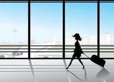 flygplatssilhouettes Royaltyfria Bilder